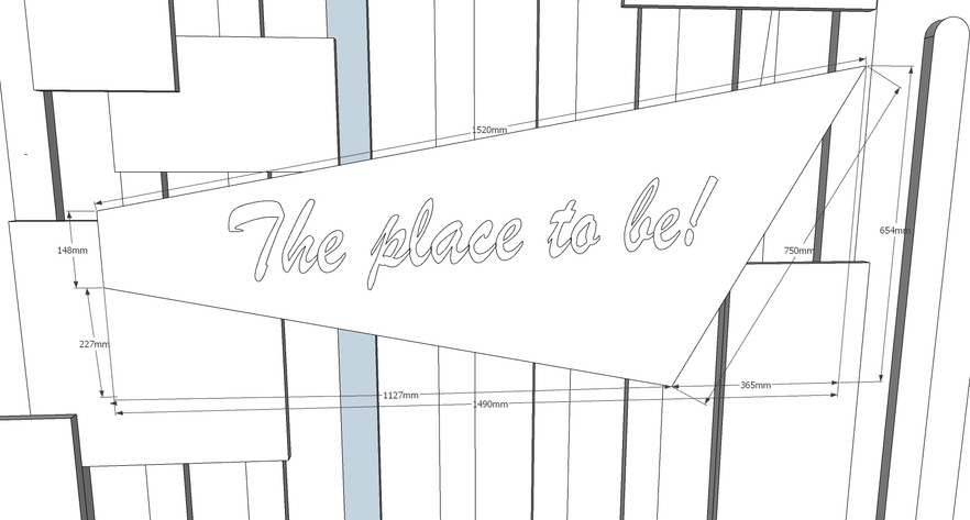 Place to be sign