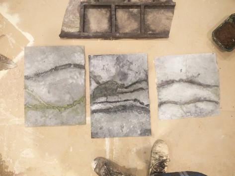 Cracked Concrete Samples
