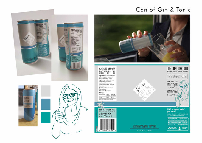 Gin and Tonic Design Board