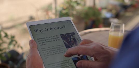 Gibraltar iPad Graphic In Shot