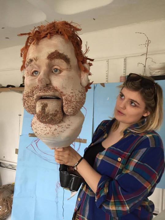 Dad Puppet Head in Progress