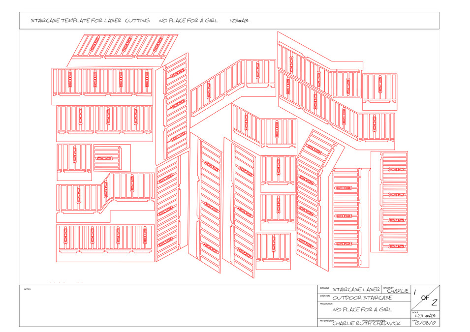 AutoCAD Laser Plan for Stairwell