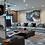 Thumbnail: Sala modular 2 Tela Gris Aqua