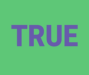 true // any type of word