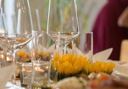 Wein- und Wassergläser