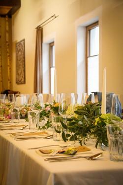 gedeckter Tisch im Birkensaal