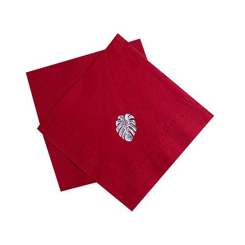 Kit Guardanapo de papel Folhas Red