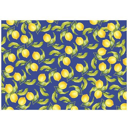 Kit Jogo Americano Limão Prime Azul