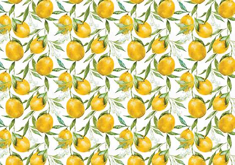 Kit Jogo americano Limão Siciliano
