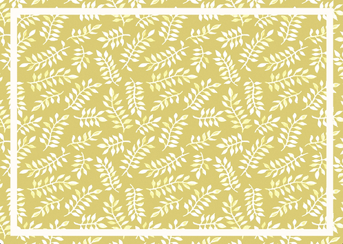 Kit Jogo Americano Folhagem Amarela