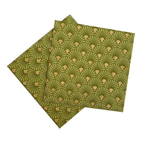 Kit Guardanapo de papel Gold Green