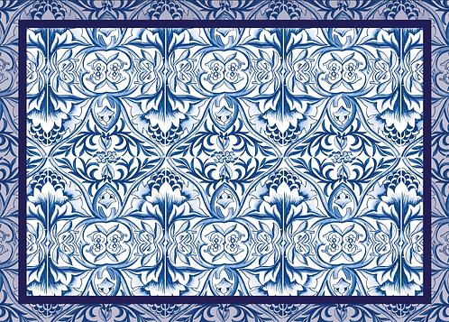 Kit Jogo Americano Azulejo