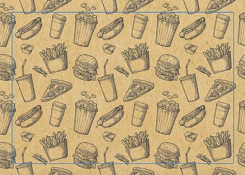 Kit Jogo americano Junk Food