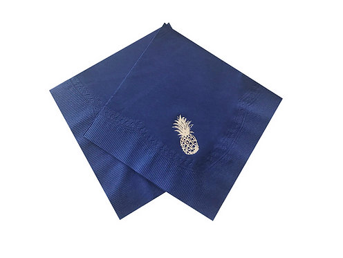 Kit Guardanapo de papel Abacaxi Azul