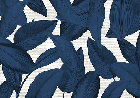 Kit Jogo Americano Folhagem Azul
