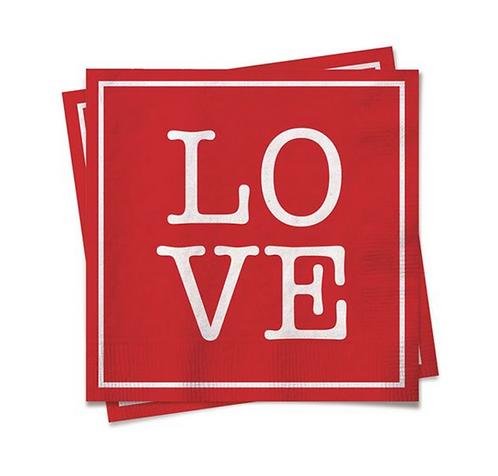 Guardanapo de papel LOVE