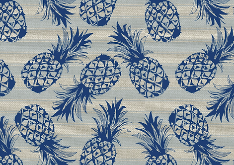 Kit Jogo americano Abacaxi Azul