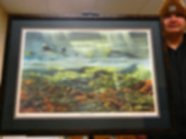 """Shadow on the Valley Ltd Ed Print. 27""""x 20.5"""" Matted & Framed"""