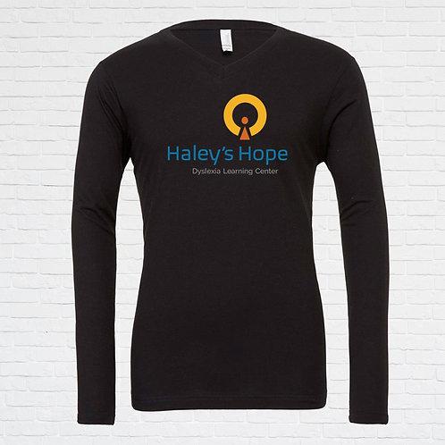 Haley's Hope V-Neck Long Sleeve Tee