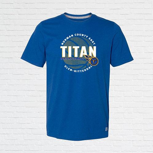 NCE-UH Titans Basketball Halftone Tee
