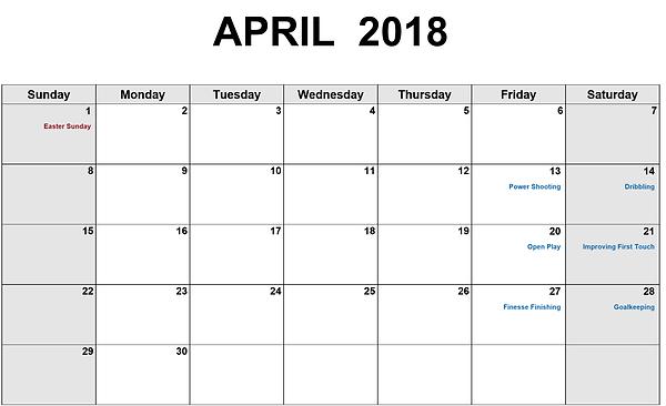 Premier German Socce Events Calendar