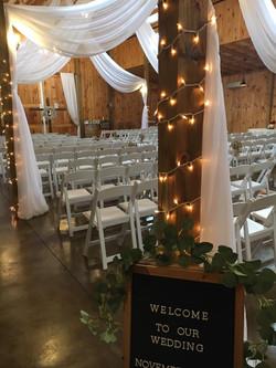 Inside ceremony setup