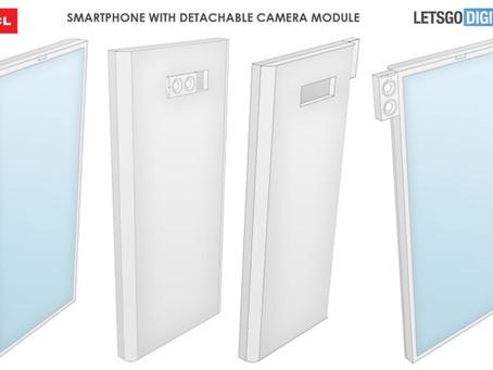 TCL registra patente de celular  com módulo de câmera destacável e tela sem entalhe