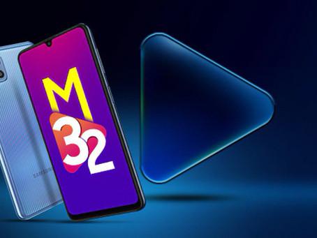 Samsung M32é lançado com tela Amoled de 90Hz e bateria de 6000mAh
