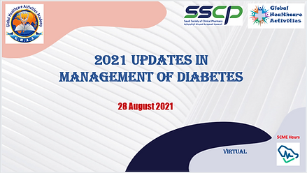 Poster updates in diabetes with logo CME hours.PNG