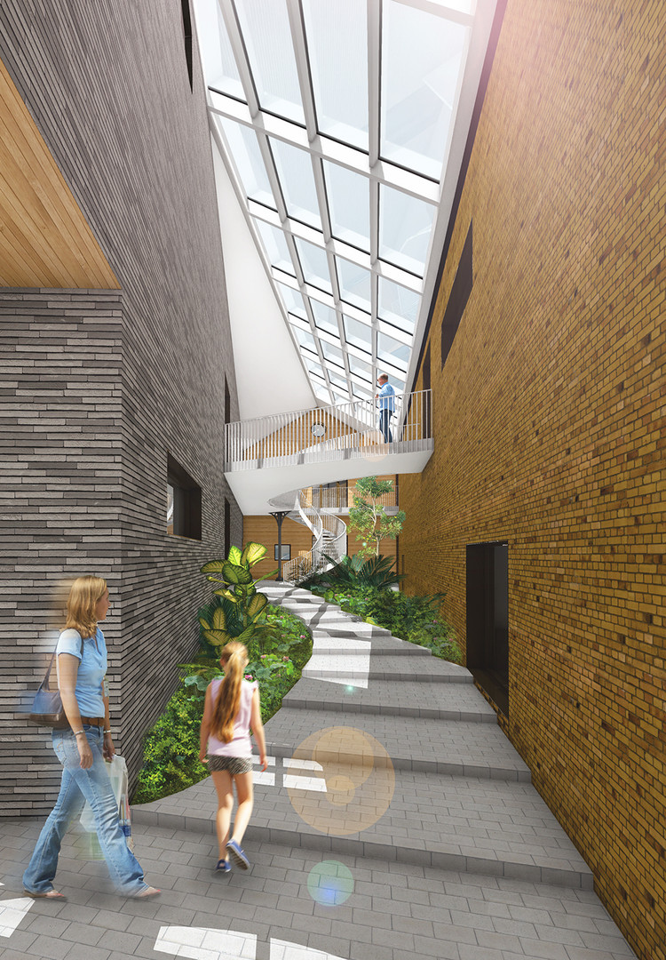 Stadhoudershof interieur atrium - stats architecten