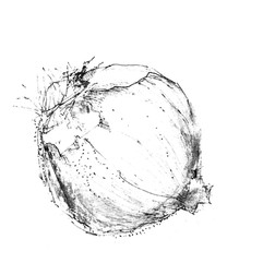 Cebolla Morada blanco y negro