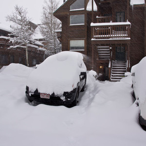 Typical Ouray snowfall