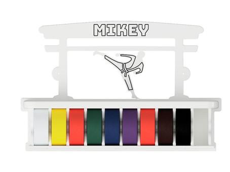 Personalised karate Belt Display Shelf