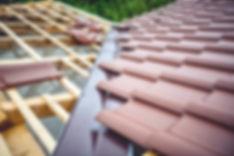 Tile roof installed over wod purlins
