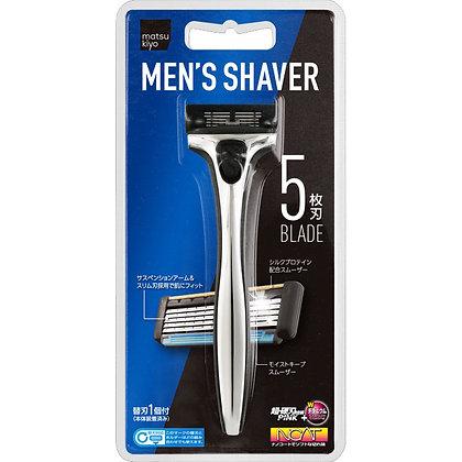 MK 都會男士極淨刮鬍刀 1個刀把5枚刃片 單支入
