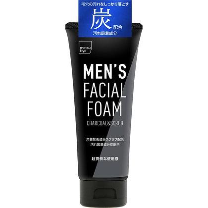 MK 熊野油脂 男士深層潔淨磨砂洗面乳(炭配合) 130g