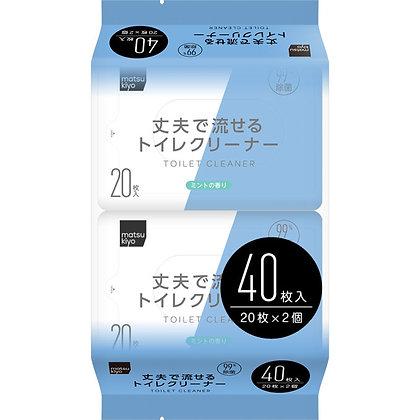 MK 廁所用清潔濕紙巾20抽 2入