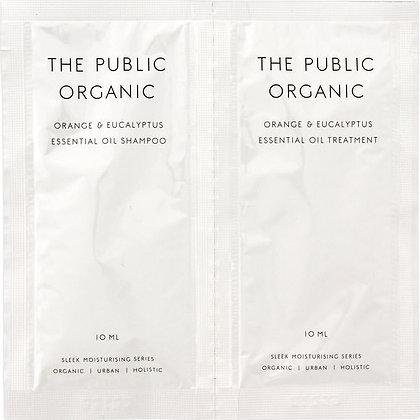 THE PUBLIC ORGANIC 絲滑潤澤洗潤一日體驗組 柑橘&尤加利 10ml+10ml