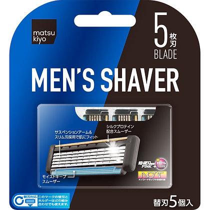 MK 都會男士極淨刮鬍刀 替換刀片 5個入