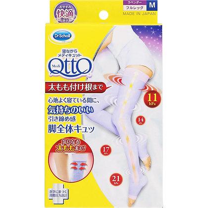 QttO 睡眠用美腿著壓全腿覆蓋襪