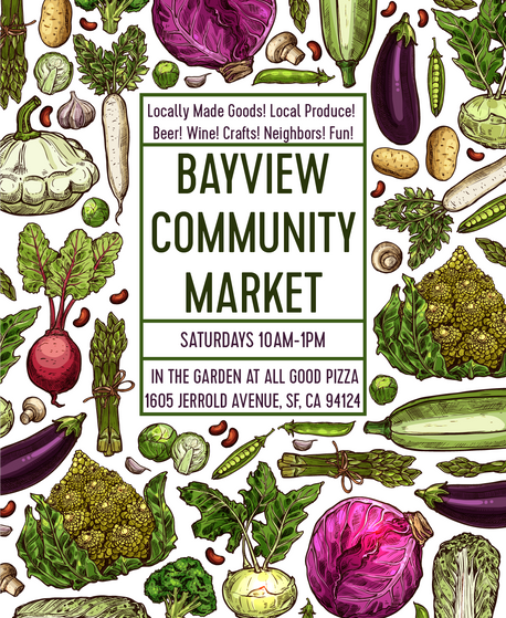 Shop locally made goods at the Bayview Community Market!