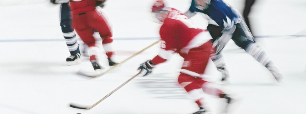 Spel van het Ijshockey