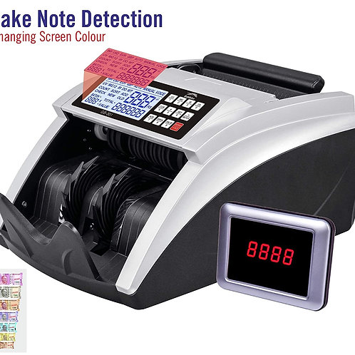 Counting Machine with Fake Note Detection with Large LCD Screen | Counts all New