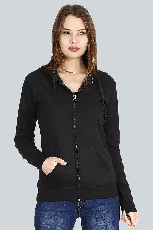 FLEXIMAA Women's Cotton Hooded Hoodie