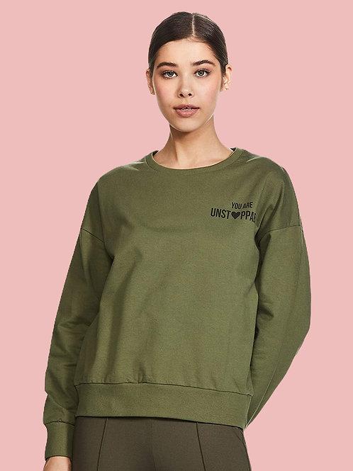 Symbol Women's Statement Graphic Regular Fit Long Sleeve Terry Sweatshirt Warm U