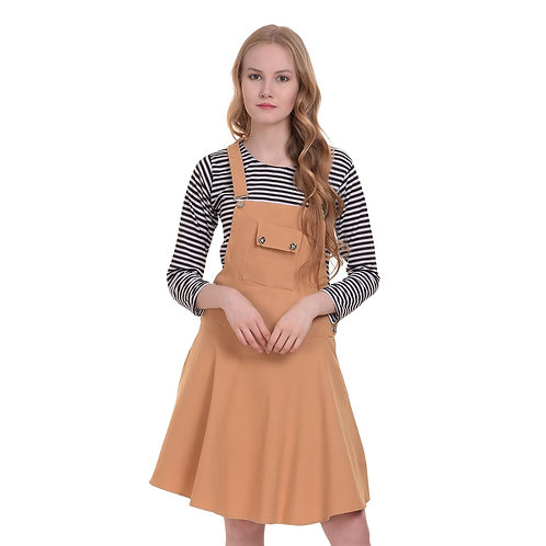 DIMPY GARMENTS BuyNewTrend Cotton Lycra Dungaree Skirt with Top for Women