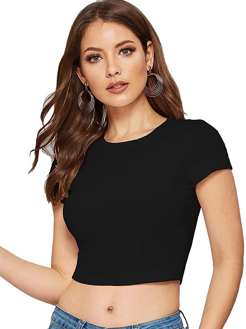 Aahwan Solid Crop Top for Woman/Girl