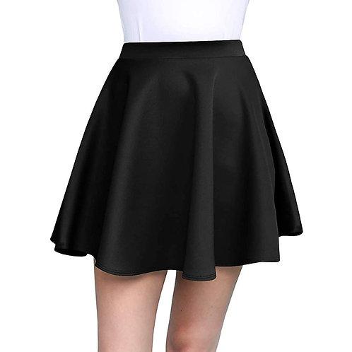 Cotton Black and Wine Skater Skirt