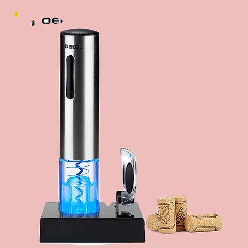 DEKO Electric Wine Opener Rechargeable Open Bottle Automatically Set For Foil Cu