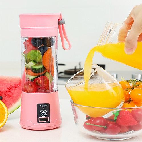 380ml Portable Juicer USB Rechargeable Smoothie Blender Fruit Juice Cup Mini